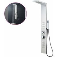 vidaXL Shower Panel System Stainless Steel Square