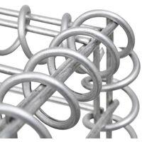 vidaXL Gabion Basket Galvanised Steel 300x30x100 cm - Silver