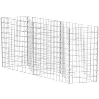 vidaXL Gabion Basket Galvanised Steel 120x30x100 cm - Silver