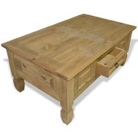 vidaXL Coffee Table Mexican Pine Corona Range 100x60x45 cm - Brown