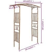 vidaXL Rose Arch Bamboo 145x40x187 cm - Brown