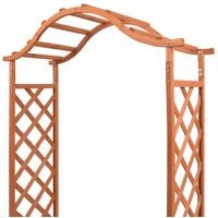 vidaXL Trellis Rose Arch with Planters 180x40x205 cm - Brown