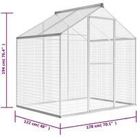 vidaXL Outdoor Aviary Aluminium 178x122x194 cm - Transparent