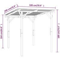 vidaXL Garden Canopy Impregnated Pinewood 170x170x180 cm - Brown