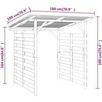 vidaXL Garden Firewood Storage Shed Impregnated Pinewood - Brown