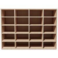 vidaXL Shoe Rack Chipboard 92x30x67,5 cm Oak - Brown
