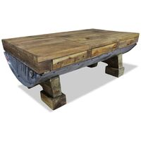 vidaXL Coffee Table Solid Reclaimed Wood 90x50x35 cm - Brown