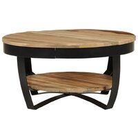 vidaXL Coffee Table 65x32 cm Solid Rough Mango Wood - Brown