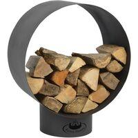Esschert Design Firewood Storage Round FF282 - Black