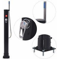vidaXL Solar Shower 8 L PVC Steel - Black