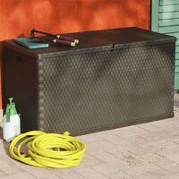 vidaXL Garden Storage Box Brown 120x56x63 cm - Brown
