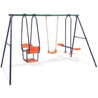 vidaXL Swing Set with 5 Seats Orange - Orange