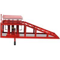 vidaXL Car Repair Ramps 2 pcs Red Steel
