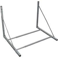 vidaXL Foldable Tyre Rack Silver Galvanised Steel