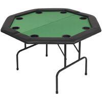 vidaXL 8-Player Folding Poker Table 2 Fold Octagonal Green - Green