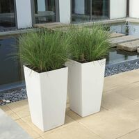 LECHUZA Planter Cubico Color 30 ALL-IN-ONE White 13130 - White