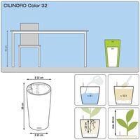 LECHUZA Planter Cilindro Color 32 ALL-IN-ONE Slate 13953 - Black