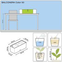 LECHUZA Planter Balconera Color 50 ALL-IN-ONE White 15670 - White