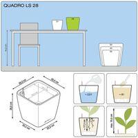 LECHUZA Planter Quadro 28 LS ALL-IN-ONE High-Gloss White 16140 - White