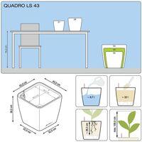 LECHUZA Planter Quadro 43 LS ALL-IN-ONE High-Gloss White 16180 - White