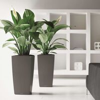 LECHUZA Planter Cubico 30 ALL-IN-ONE Charcoal 18184 - Grey