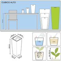 LECHUZA Planter Cubico Alto 40 ALL-IN-ONE High-Gloss White 18230 - White