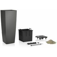 LECHUZA Planter Cubico Alto 40 ALL-IN-ONE Charcoal 18233 - Grey