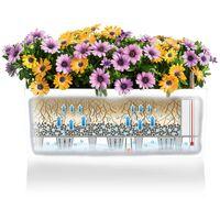 LECHUZA Planter Balconera Color 80 ALL-IN-ONE White 15680 - White