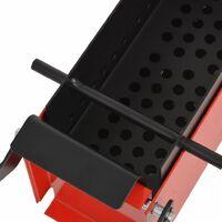 vidaXL Paper Log Briquette Maker Steel 34x14x14 cm Black and Red - Red