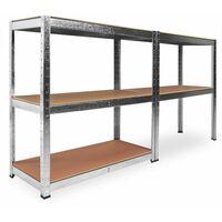 Estanteria Metalica Galvanizada 875kg 5 Baldas 180 x 90 x 40cm Ideal Garaje