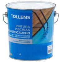 PINTURA CLOROCAUCHO PISCINAS TOLLENS 4 LT   Azul Marino 037 - Azul Marino 037