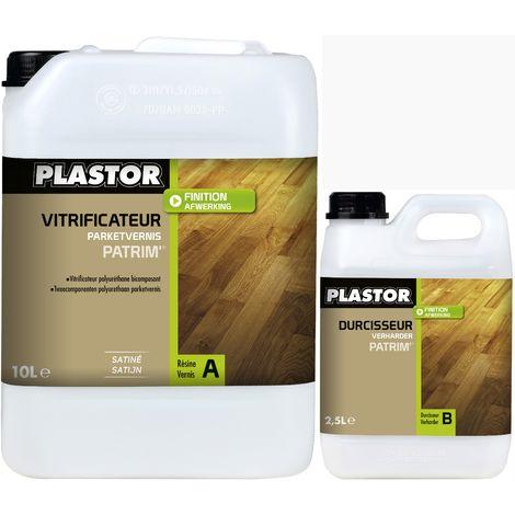 Plastor Vitrificateur Polyuréthane bi-composant Patrim Trafic fort 12,5L