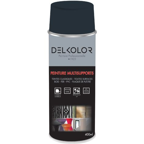 Peinture aérosol Delkolor RAL 7016 Gris Moderne 400ml | Couleur: Gris anthracite RAL 7016
