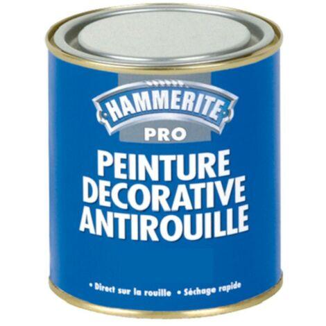 Peinture antirouille Hammerite Pro Martelée 1L | Couleur: Argent - Conditionnement: 1L