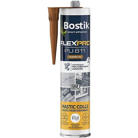 Bostik Mastic colle FlexPro PU 811 300ml   Couleur: Marron