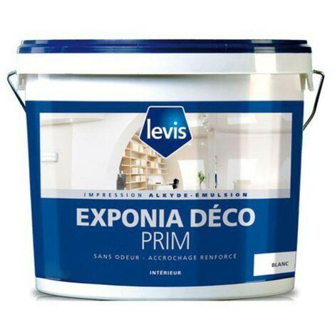 Levis Peinture d'impression Exponia Deco Prim blanc   Couleur: Blanc - Conditionnement: 1L