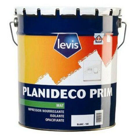 Levis Peinture d'impression Planideco Prim blanc | Couleur: Blanc - Conditionnement: 5L