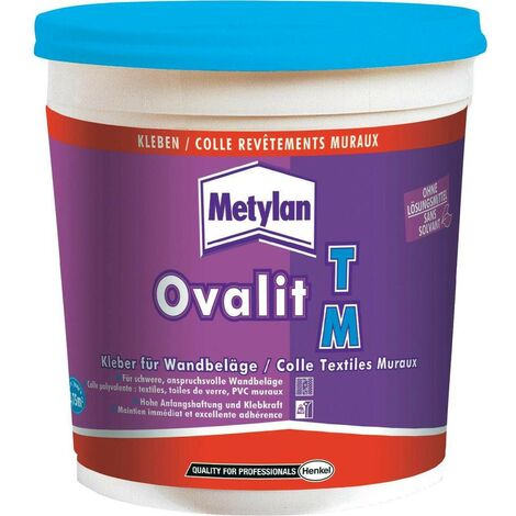 Colle textiles muraux Ovalit TM | Conditionnement: 750G