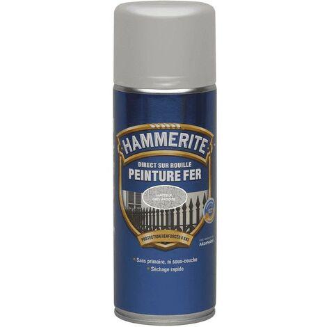 Hammerite Peinture fer Direct sur rouille Martelé aérosol 400ml | Finition: Martelé - Couleur: Gris ardoise - Conditionnement: 400ml