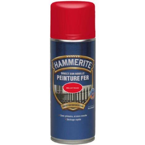 Hammerite Peinture fer Direct sur rouille Brillant aérosol 400ml | Finition: Brillante - Couleur: Rouge vif - Conditionnement: 400ml