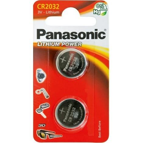 2 Piles bouton CR2032
