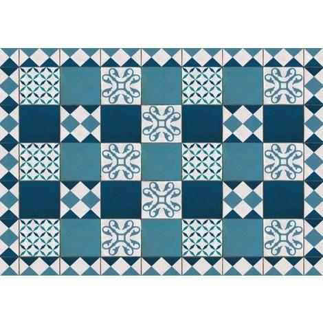 Tapis Vinyle Nora Turquoise | Taille: 120x170 cm