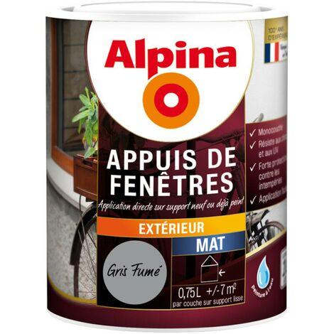 Peinture Alpina Appuis de fenêtres 0,75L | Couleur: Gris fumé