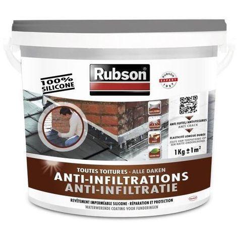 Revêtement d'étanchéité anti-infiltrations toutes toitures 1kg   Couleur: Gris