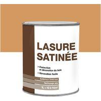 Lasure bois satinée 1L | Couleur: Chêne clair