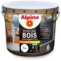 Peinture bois Alpina satin 10L | Couleur: Blanc