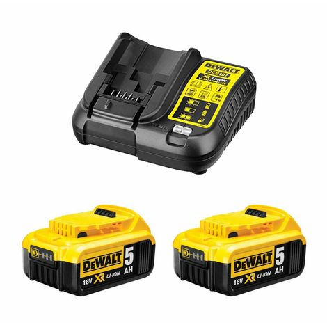 Power Set DeWALT (2 x 18V 5,0 Ah + DCB107)