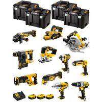 DeWALT Kit DWK1103T (DCD996+DCH273+DCG405+DCF887+DCF899H+DCS334+DCS570+ DCS355+DCP580+DCS367+DCL050+ 3x5,0Ah +DCB115+4xTSTAK VI)