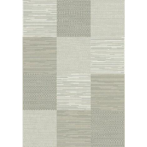 Tapis Moderne Prisma Grège - Carrés - 120 x 170 cm