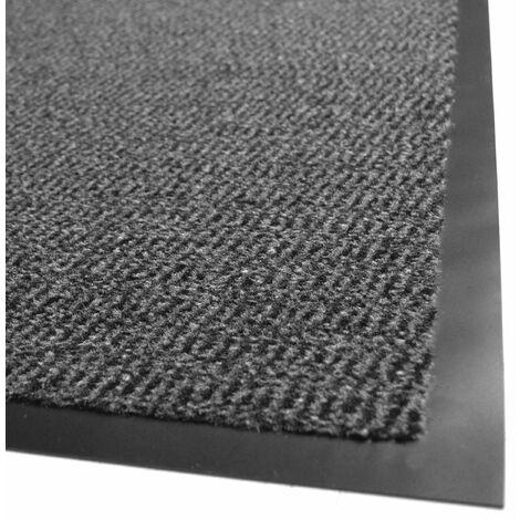 Tapis entrée accueil anti-salissures - Anthracite - 60 x 90 cm
